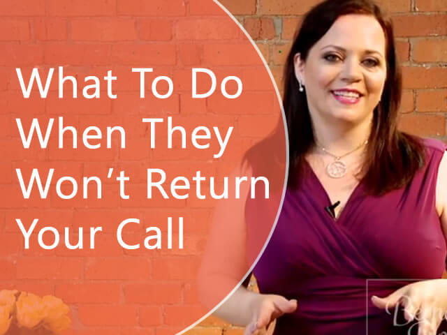 Sales phone calls: What to do when a sales prospect won't return your calls