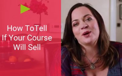 How To Tell If Your Course Will Sell